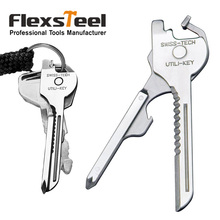 Swiss+Tech Multifunctional Utili Key Tool 6 in 1 Pocket Keychain Tool Multitool for Auto Camping Hardware Polished S S все цены