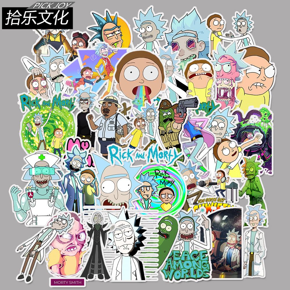 Modestil 35 Teile/los American Drama Rick Und Morty Cartoon Aufkleber Aufkleber Für Snowboard Gepäck Auto Kühlschrank Auto-styling Laptop Aufkleber Aufkleber Klassische Spielzeug