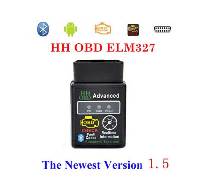 Prix pour Matériel v1.5 Mini HH ELM 327 Bluetooth OBD2 outil de diagnostic CAN BUS ELM327 1.5 Fonctionne sur Android Symbian de Windows