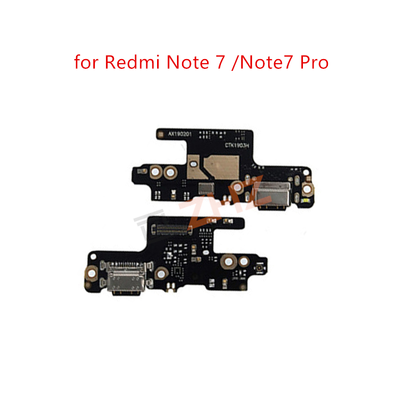 for Xiaomi Redmi Note 7 USB Charger Port Dock Connector PCB Board Ribbon Flex Cable + Headphone Jack Audio Earphone repair Parts(China)