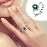 2020 Special Offer Limited Women Anel Masculino Ring Anillos Natural Malachite S925 Inlaid With Female Ring Alive Holiday Gift
