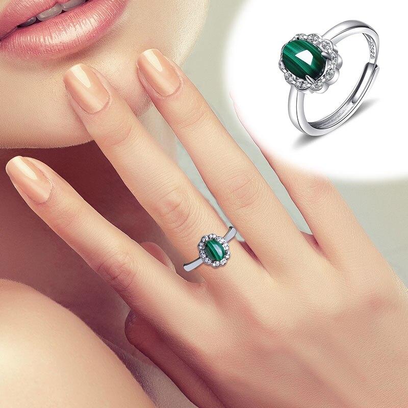 2020 offre spéciale limitée femmes Anel Masculino anneau Anillos naturel Malachite S925 incrusté avec bague femme vivant cadeau de vacances