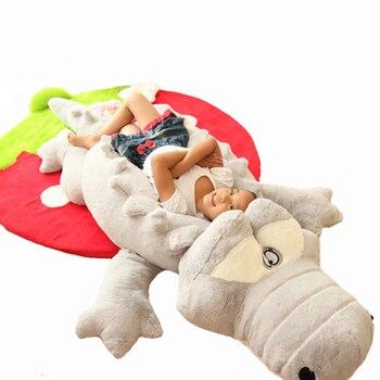 Peluche 60cm Crocodile couché oreiller tapis