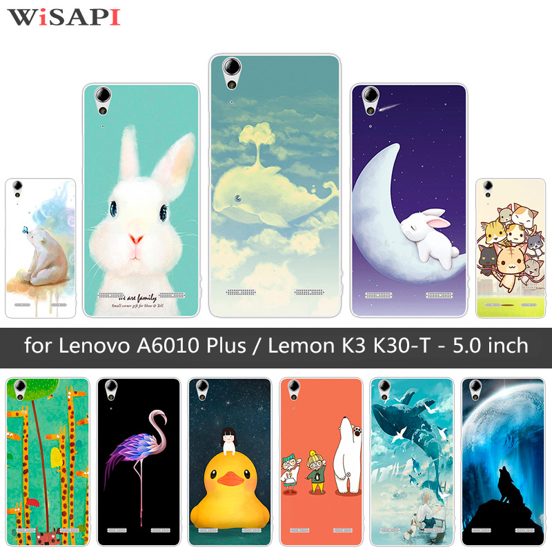 Soft Silicone for Lenovo A6010 Plus & A6000 Cute Animal Phone Case for Lenovo Lemon K3 K30-T Cover 5