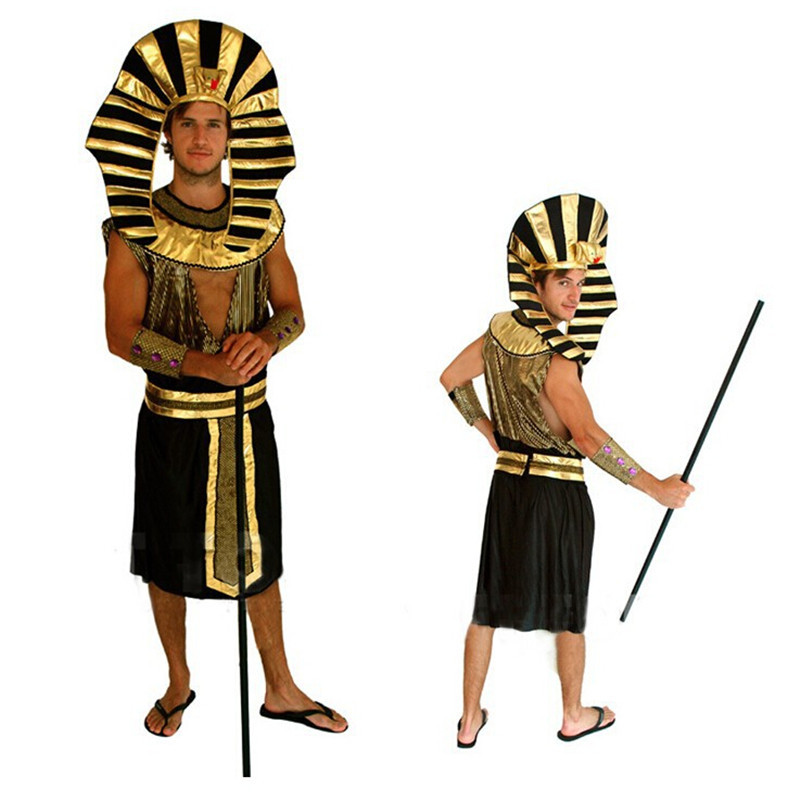 Novelty & Special Use ... Costumes & Accessories ... 32735095463 ... 3 ... Gold Egypt Pharaoh Costumes For Purim Party s Clothing Egyptian King Men Prince Purim Fancy Dress ...