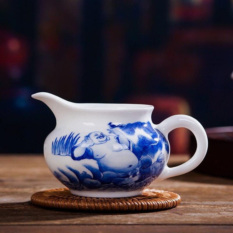 170 ml جينغدتشن اليد رسمت عادل كوب اليدوية السيراميك الخزف Drinkware مكتب الشاي حفل تشا هاي الاكسسوارات مقبض القدح-في أكواب من المنزل والحديقة على  مجموعة 3