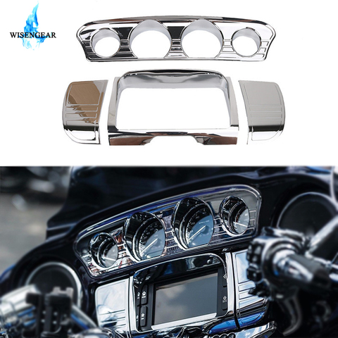 motos chrome deluxe linha stereo guarnicao capa para harley tri touring electra glide flhx cvo