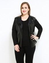 Cute Ann Women's Plus Size Faux Leather Duster Jacket Black White Long Sleeve Pu Duster Cardigans Coats Spring Casual Wear
