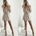 Lantejoulas macacão macacão de moda de nova mulheres marca playsuit rompers casual fora do ombro verão Borla lantejoulas palysuit Plus Size