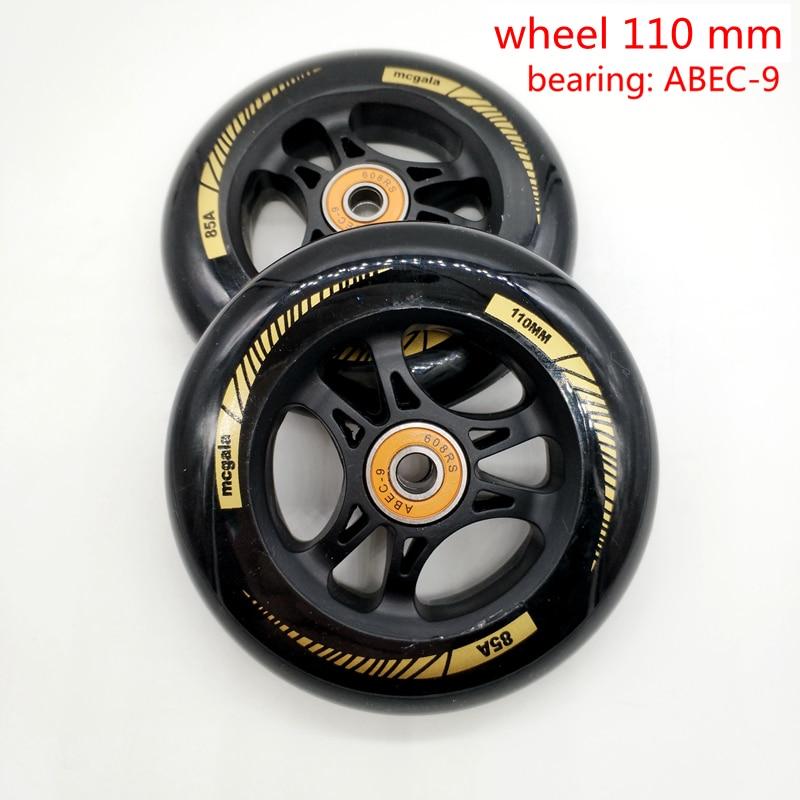 Free Shipping Scooter Wheel 100*24 Mm 110*24 Mm PU Wheel 2 Pcs / Lot