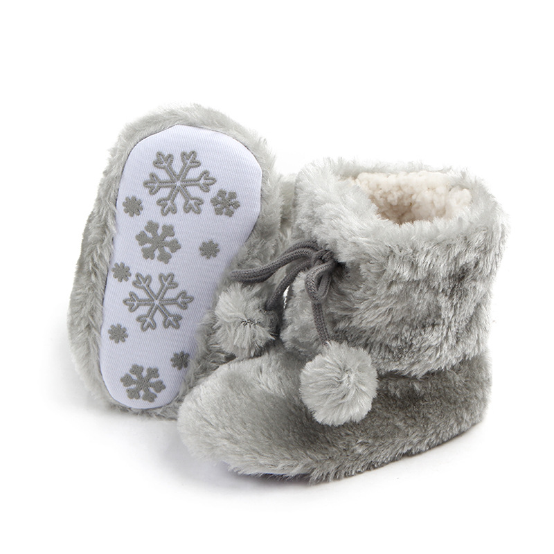 d1b7332755b1 2018 Winter Newborn Baby Girls Boots Infant Baby Girl Toddler Shoes Infant  Girls Fur Boots Shoes Soled Non slip Footwear Shoes-in First Walkers from  Mother ...