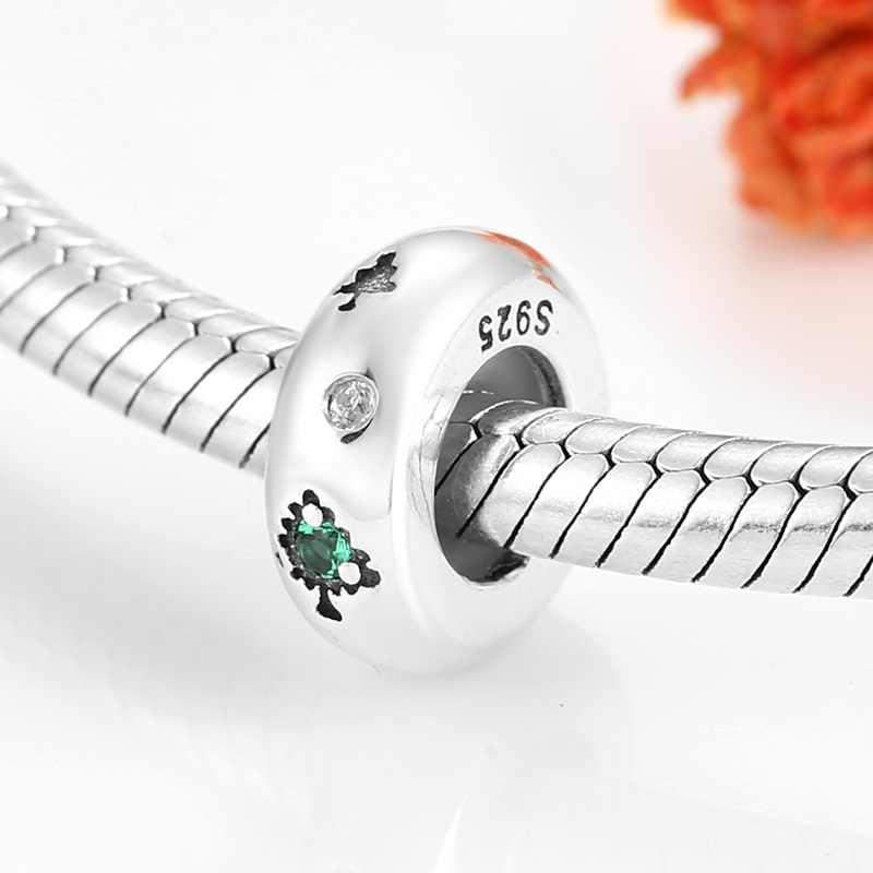 2019 Authentic 925 Sterling Silver suave rodada Spacer Stopper Beads Para fazer Jóias Originais Fit Pandora Charm Bracelets