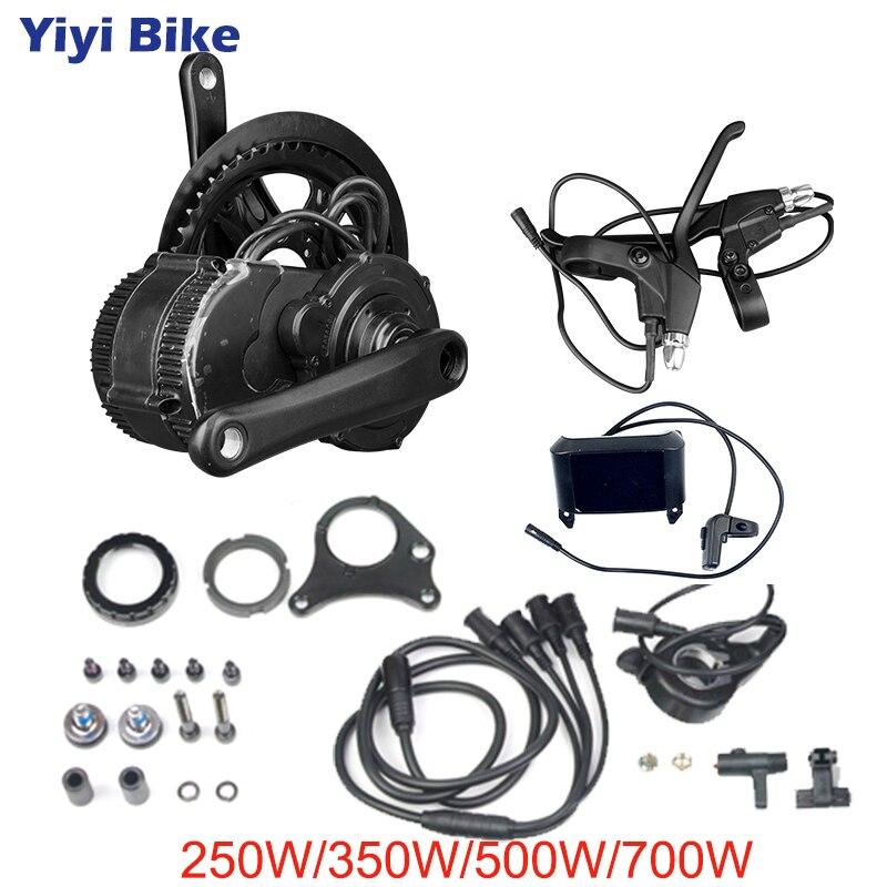 Bafang BBS01 BBS02 середине диска велосипед с электродвигателем Conversion Kit 8fun 36 V 48 V 250 W 500 W 750 W безщеточный с ЖК дисплей Дисплей