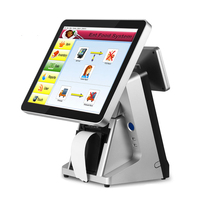 high quality pos point of sale system 15'' Capacitive Touch Screen Display Lcd Panel Pos System With  Customer Display