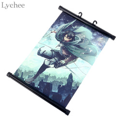Lychee Japan Anime Attack on Titan Wall Scroll Painting Canvas Poster Cosplay Home Decoration