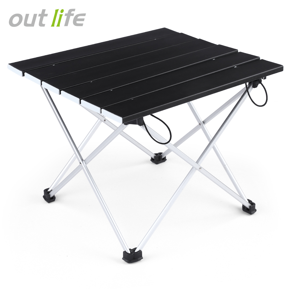 Furniture Diligent Portable Outdoor Bbq Camping Picnic Aluminum Alloy Folding Table Portable Lightweight Rain-proof Mini Rectangle Table