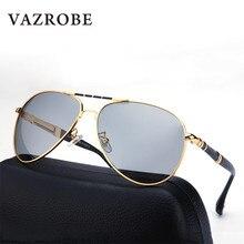 Vazrobe Photochromic Glasses Chameleon for Men Polarized Sunglasses Men's Sun Glasses Aviation Oversized Antiglare Goggles UV400