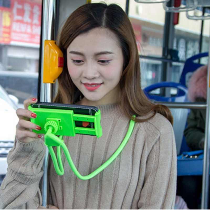 Вращающийся гибкий держатель для селфи-палка для телефона, декоративный кронштейн для ленивых, универсальный, как у змеи, для шеи, для кровати, противоскользящий, 360 градусов