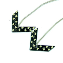 14 SMD LED Arrow Panel font b Car b font Rear View font b Mirror b
