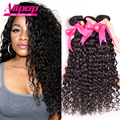 "8A Malaysian Curly Hair 4pcs/lot Malaysian Virgin Hair Water Wave Kinky Curly Virgin Hair 10""-26"" Remy Human Hair Weave No Shed"