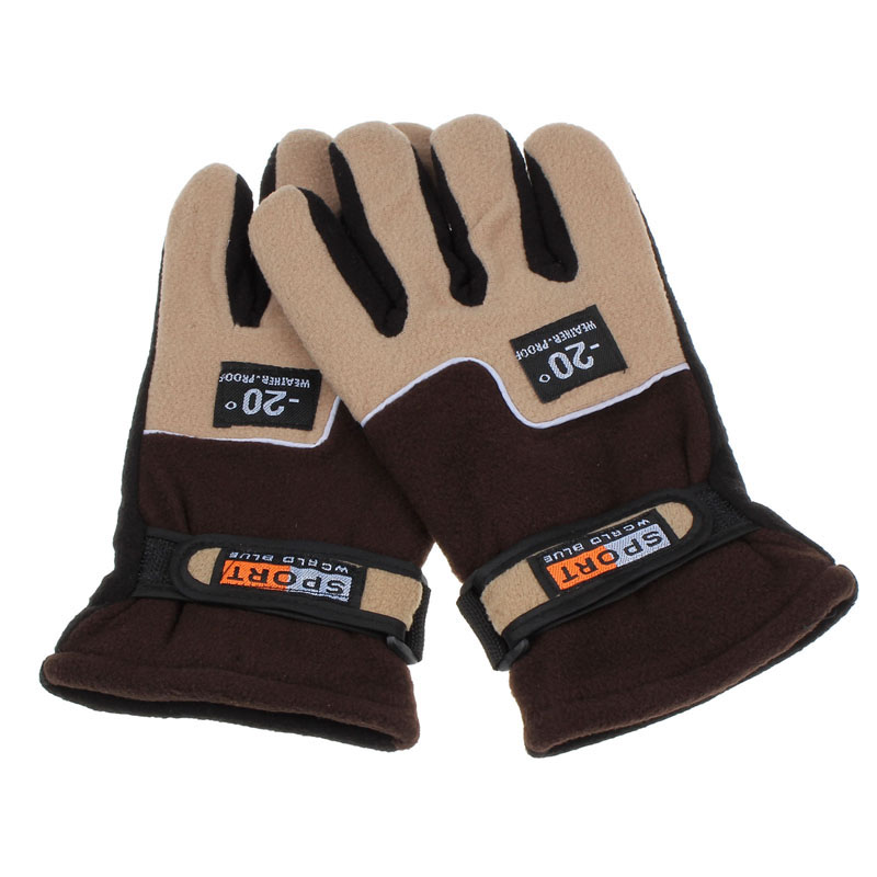 KLV Windproof Men Thermal Winter Motorcycle Ski Snow Snowboard  Soft Gloves Red Brand New And High Quality Gloves For Men Z0927