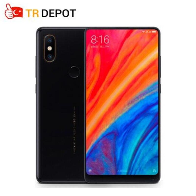 2018 nouveau Xiao mi mi mi x 2 S Snapdragon 845 6 GB 64 GB 5.99 ''plein écran Smartphone 4G NFC double PD Camere 7.5 W Qi recharge sans fil