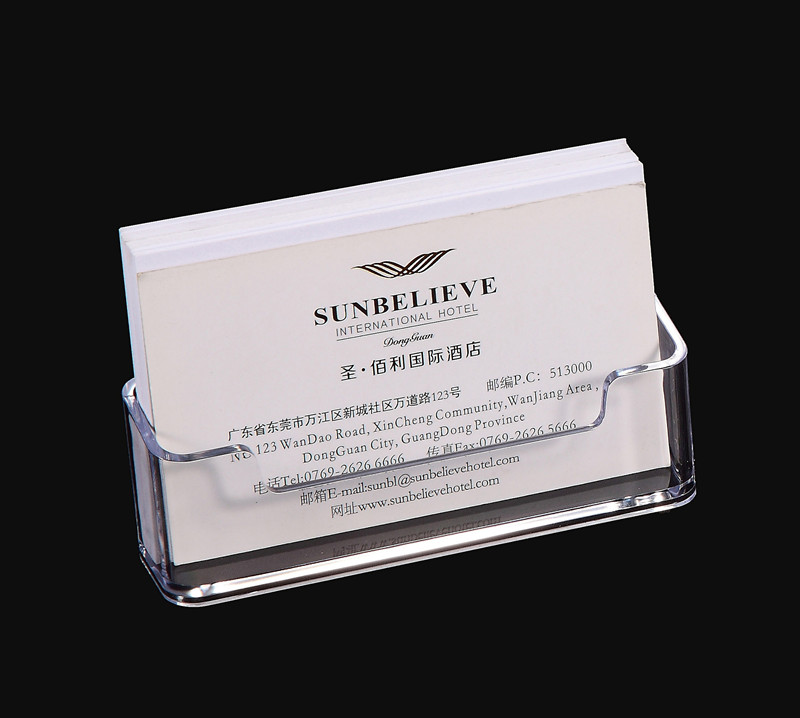 1 Pcs Clear Desk Shelf Box Storage Display Stand Acrylic Plastic Transparent Desktop Business Card Holder 10 *5*5.7cm(China)