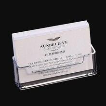 1 шт. прозрачная настольная полка коробка для хранения дисплей стенд акриловый пластик прозрачный Настольный бизнес держатель для карт 10*5*5,7 см