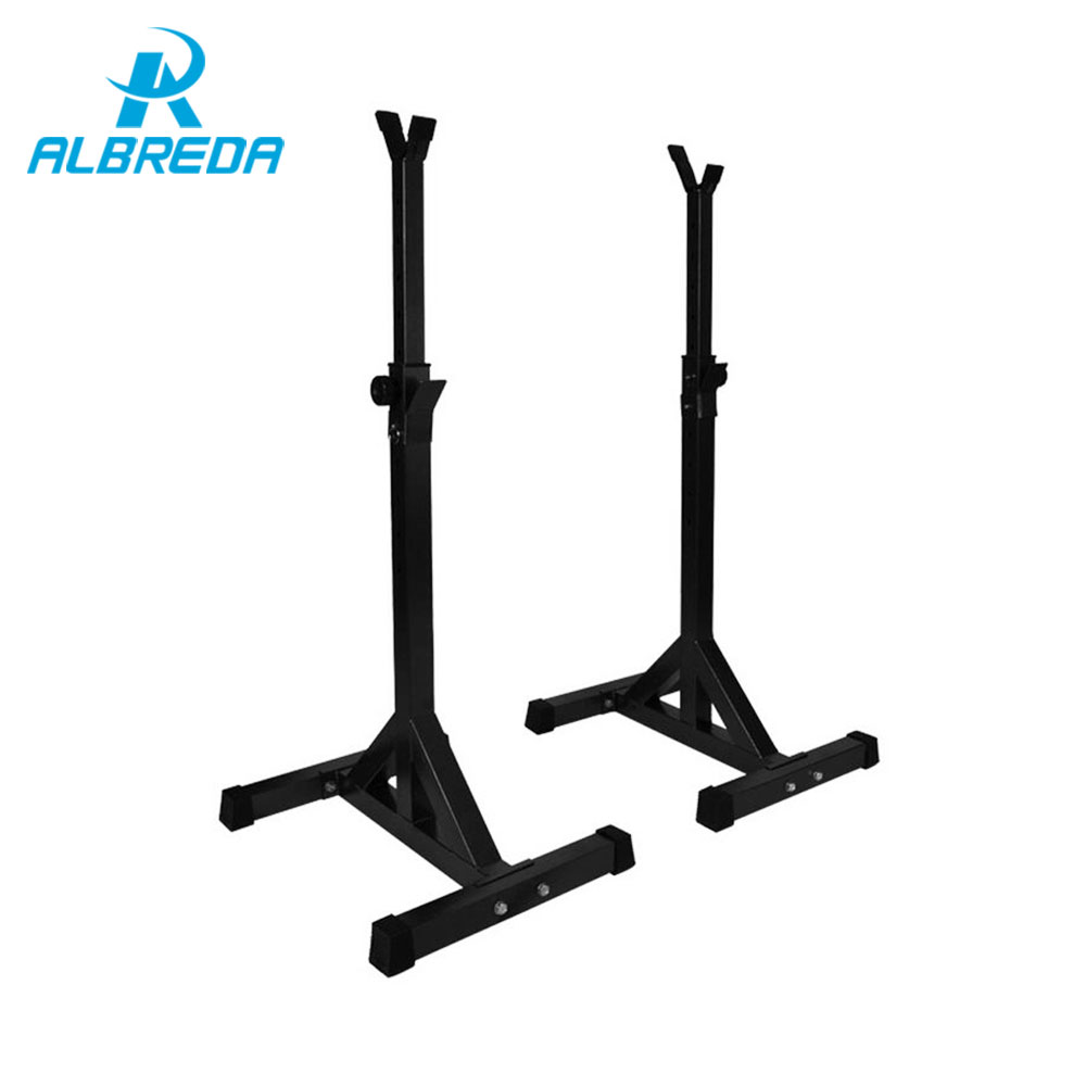 цена ALBREDA High-quality Adjustable squat stand Barbell rack barbell squat body frame weight lifting barbell Rack fitness equipments