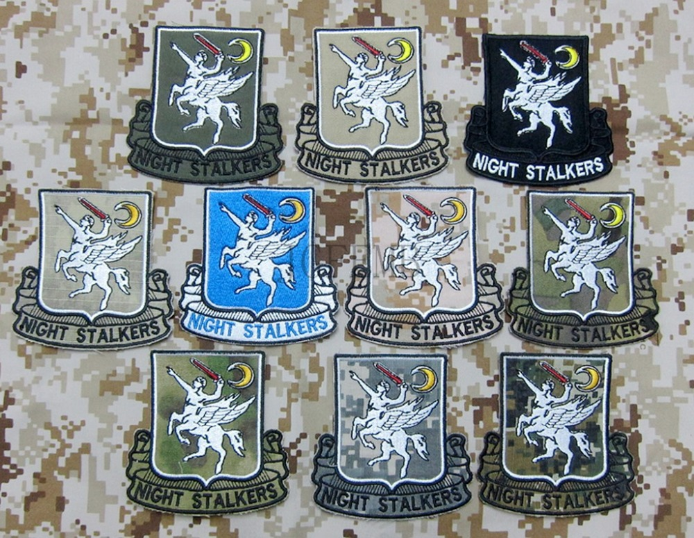 Multi color SEAL TEAM Operation Red Wings 160th SOAR NIGHT STALKERS Morale Military Embroidery patch Badges