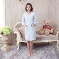 Хлопковый Халат Вафельный кимоно hotel халат большой размер Весна Жира мм пот испаряется пары банный халат женская Сна и гостиная