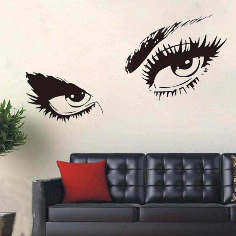 sexy eyes wall sticker home decor vinyl art home black decor large