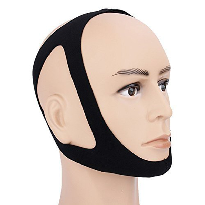 Genkent Anti Snoring Chin Strap Anti Snore Stop Snoring Jaw Belt Sleep Support for Woman Man Care Sleeping Tools Black Color