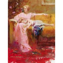 Canvas wall pictures pop art Story time women oil painting Pino Daeni framed landscape modern home decor