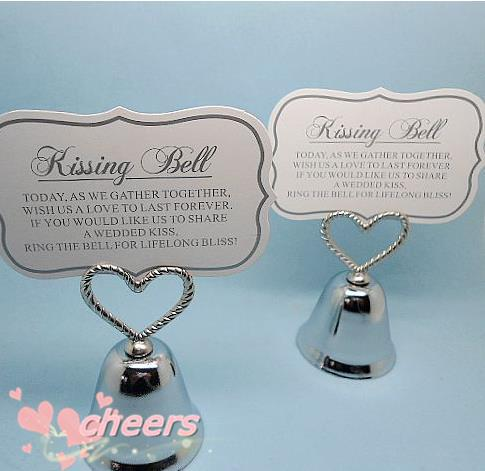Silver Heart Bell Place Card Holder Wedding Favors With Matching For Table Holders Christmas Gift In Party Direction Signs From Home Garden On