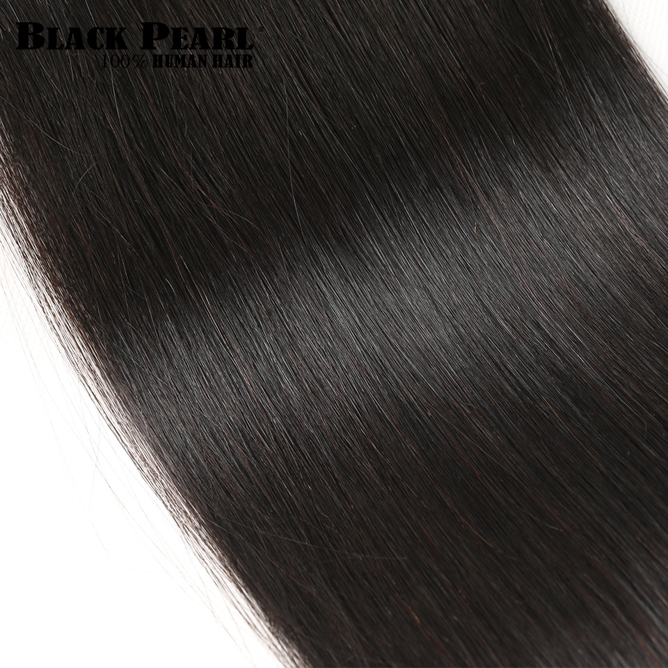 HTB1kobDj TI8KJjSsphq6AFppXa8 Black Pearl Pre-Colored 3 Bundles with Closure Straight Human Hair Bundles with Closure Brazilian Hair Weave Bundles