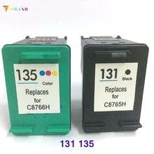 1Set for HP 131 135 ink cartridge 460 5743 5940 5943 6940 Photosmart 2573 2613 8753 PSC 1600 1613 2350 2355 printer
