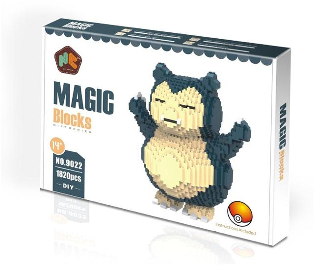 HC Magic Blocks with Original box Big size Building Blocks Anime Model Bricks Cartoon Stitch Action Figures Toys Kids Gifts