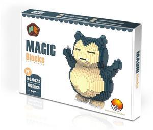 Image 1 - HC магические блоки с оригинальной коробкой, большие размеры, строительные блоки, аниме Модели, кирпичи, Мультяшные стежки, фигурки, игрушки, детские подарки