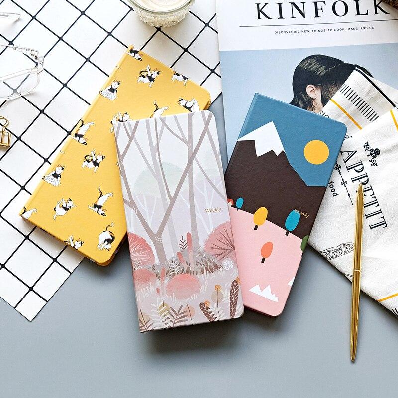 New Cute Portable Travelers Journal Notepad Kawaii Weeks Planner Daily Weekly Planner Agenda 2019 2020 Schedule Bullet Journal
