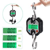 1pc 150kg Mini Crane Scale Mayitr LCD Digital Weight Electronic Hook Hanging Scales Without Batteries