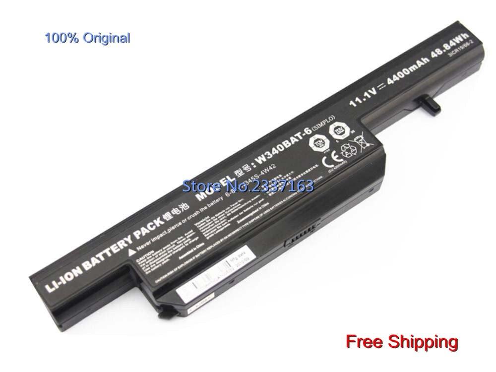 IECWANX 100% new Laptop Battery W340BAT-6 (11.1V 4400mAH 48.84WH) for CLEVO (ThundeRobot) G150S W340BAT-6 6-87-W345S-4W42