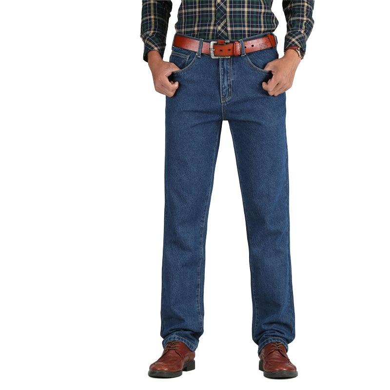 2018 Hot Sale Men Cotton Straight Classic   Jeans   Baggy Spring Autumn Men's Denim Pants Designer Trousers High Quality