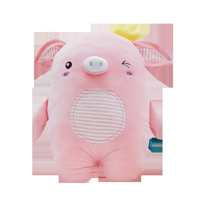 45/55 Cm doux rose couronne cochon en peluche jouet doux en peluche mignon Animal cochon belles poupées pour enfants apaiser jouet décoration de la chambre de bébé