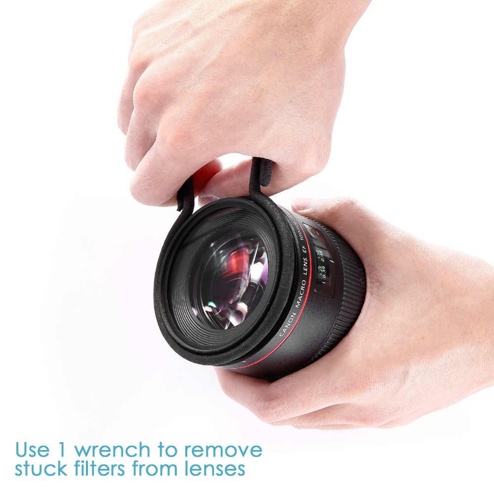 N eewer 2ชิ้นยาง-เคลือบโลหะกล้องเลนส์กรองRemoverประแจชุดKit Fit 67-72มิลลิเมตรเลนส์กระทู้สำหรับCanon/Nikon/P Entax/โซนี่