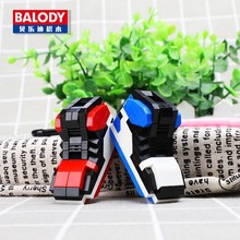 Kids Toys Mini Blocks Shoes Model Key Ring Sport Basketball Shoes Toys For Children DIY Educational Toys Building Blocks Gift(China)