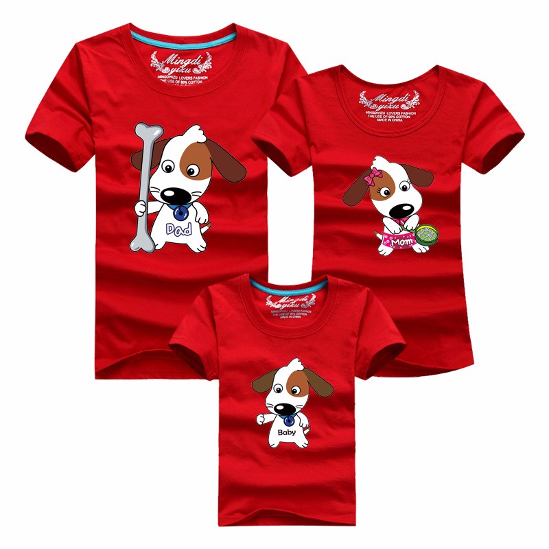 Puppy Family Matching Cotton T-Shirts Set