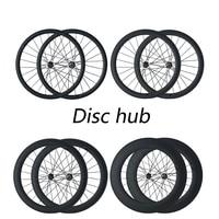 OZUZ Disc Brake Hub 24/38/50/88mm Carbon Clincher Tubular Cyclocross Wheels Carbon Bike Bicycle Disc Wheelset D791SB/D792SB 700C