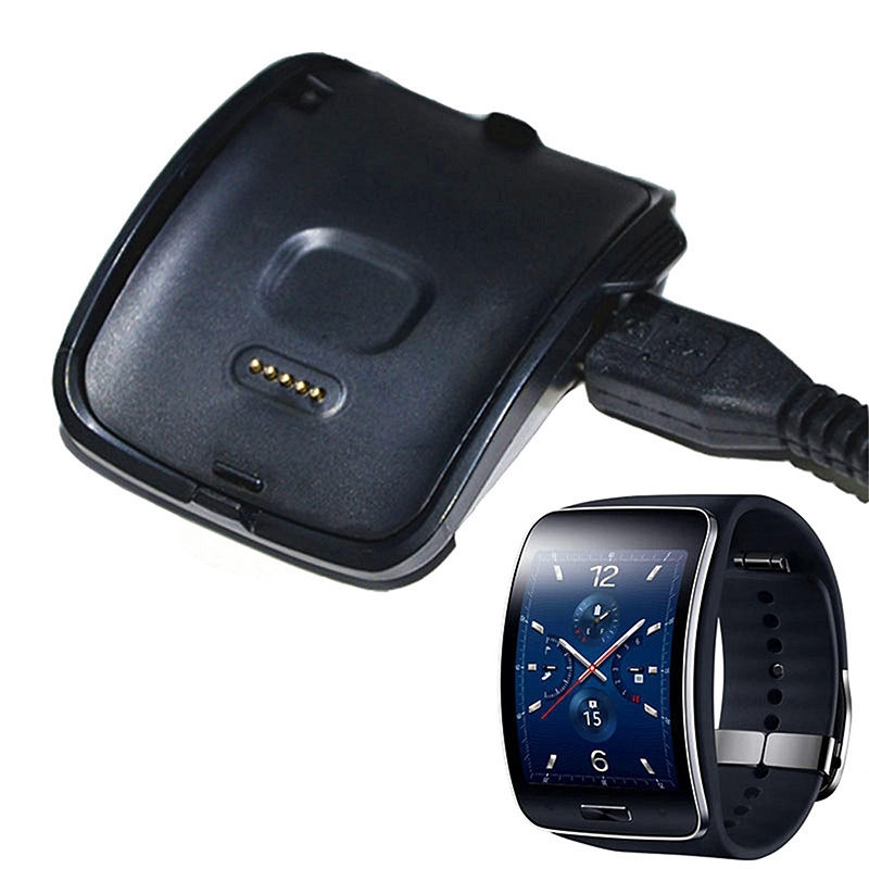 Mayitr New <font><b>Charging</b></font> Cradle Smart Watch Charger <font><b>Dock</b></font> For <font><b>Samsung</b></font> <font><b>Gear</b></font> <font><b>S</b></font> SM-R750W with USB Cable image