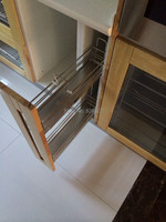 Premintehdw 2 tier stainless steel pull out tray soft close side mount for 15cm kitchen cabinet